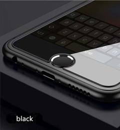 iphone6s phones 7plus fingerprint keys stick home key sticker metal waterproof hand sweat Black One size