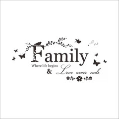Butterfly bird waterproof wall stickers family living room bedroom background home decor wallpaper family one size