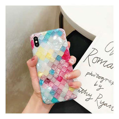 iPhone X/XS/XR/XSMAX/7/8/7Plus/8P/6/6S/6P/6SP Fish Scale Shell Pattern Silicone Anti-fall Soft Shell colorful iphone 6/6s