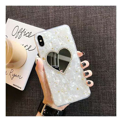 iphone X/XS/XR/XSMAX/7/8/7P/8P/6/6S/6P/6SP Love Mirror Shell Silicone Anti-fall Soft Shell Golden iphone 6plus/6splus