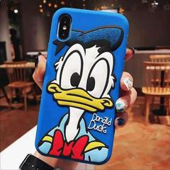 IPhone x/xs/xr/xm/7/8/6/6s/6p/7p/8p Cute cartoon Mickey Minnie silicone phones soft shell Blue-Donald Duck iphone xr