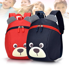Toddler baby shoulder bag   boys and girls children anti-lost lost cute cartoon backpack bag red one size