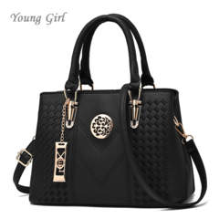 Messenger Bags Women Leather Handbags Bags for Women 2019 Main Ladies Hand Bag Black 30*13*20