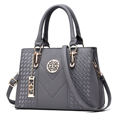 Messenger Bags Women Leather Handbags Bags for Women 2019 Main Ladies Hand Bag Gray 30*13*20
