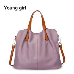 Fashion Genuine Leather Women bag women's handbag Shoulder Designer women ToteS pink one size