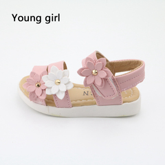 Children's shoes in the summer of 2019 the new lovely flowers fashion footwear magic baby shoes pink 22