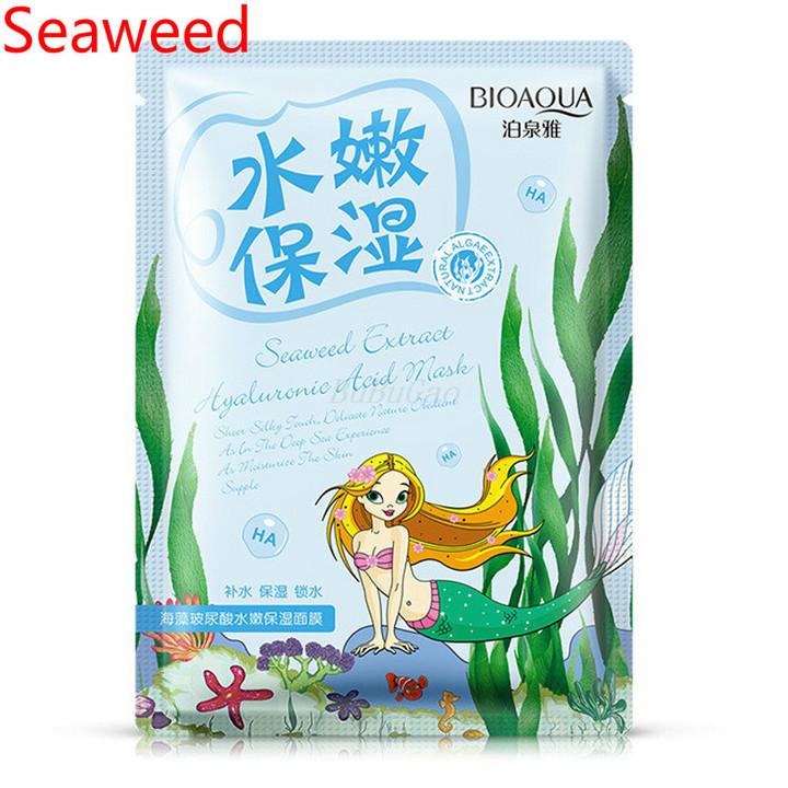 BIOAQUA 1Pcs Bright skin moisturizing and repairing aging contractive pore Seaweed