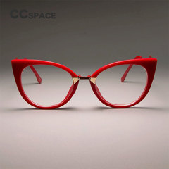 Ladies Sexy Cat Eye Glasses Frames For Women GORGEOUS Brand Designer Optical EyeGlasses red clear lens