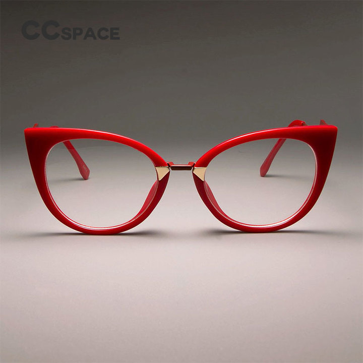 932fe24e9a32 Ladies Sexy Cat Eye Glasses Frames For Women GORGEOUS Brand Designer  Optical EyeGlasses red clear lens