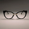 Ladies Sexy Cat Eye Glasses Frames For Women GORGEOUS Brand Designer Optical EyeGlasses black clear lens