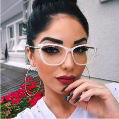Fashion Square Glasses Frames Women Trending Styles Brand Optical Computer Glasses Clear