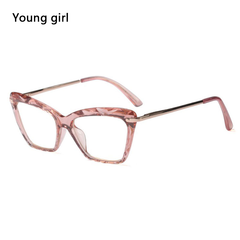 Fashion Square Glasses Frames Women Trending Styles Brand Optical Computer Glasses Pink
