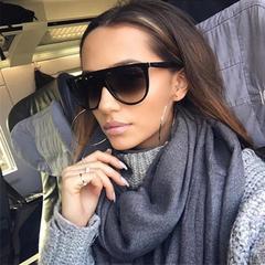 Thin Flat Top Sunglasses Women Luxury Brand Designer Retro Vintage Sun Glasses Female Clear Glass c1 01