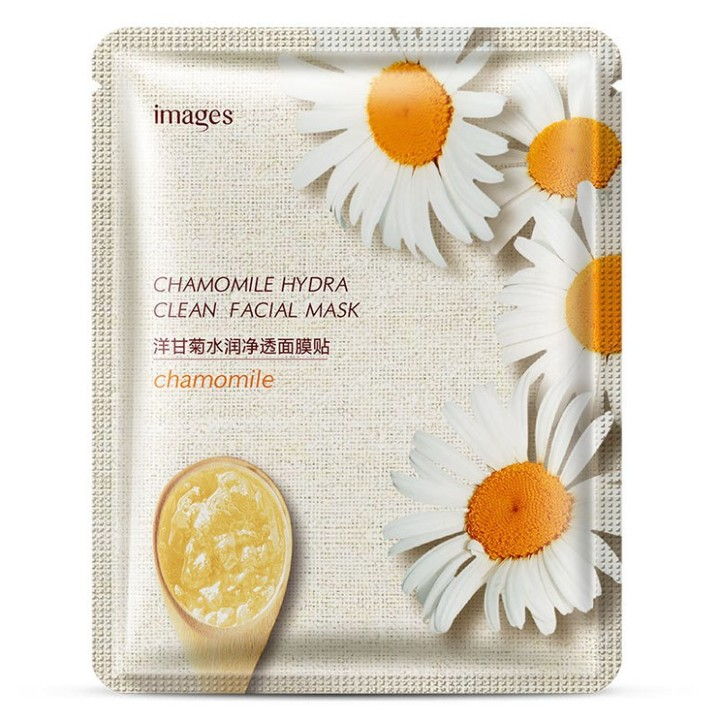 Plant Facial Jelly Sheet Mask Deep Moisturing Hydrating Jelly Wrapped Face Mask Skin Care chamomile