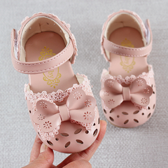 Newest Summer Kids Shoes 2019 Fashion Leathers Children Sandals For Girls Toddler Baby Breathable pink 3