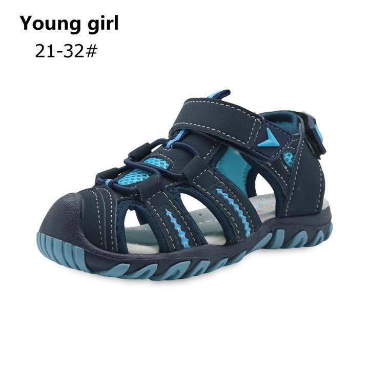 Brand New Summer Children Beach Boys Sandals Kids Shoes Closed Toe Arch Support Sport Sandals blue 5