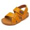 New 2019 Boys sandalies children's sandals boys stitching soft bottom sandals girls baby beach yellow 5.5
