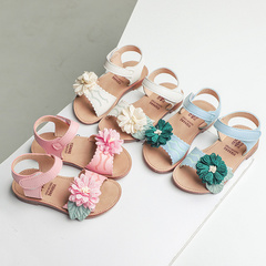 Flower Girls Sandals Baby Kids Hook Princess Beach Shoes 2019 Children's Sandals For Girl pink 6.5