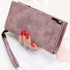 Women Wallets Fashion Lady Wristlet Handbags Long Money Bag Zipper Coin Purse Cards ID Holder Clutch purple long