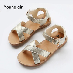 PU Leather Girls Shoes kids Summer Baby Girls Sandals Shoes Skidproof Toddlers Infant Children Shoes gold 5.5