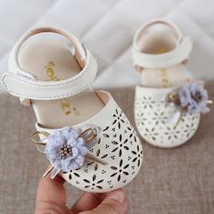 Summer Infant Kids Baby Girls Elegant FlowerHallow Sandals Princess Shoes kids girls sandals beige 3.5