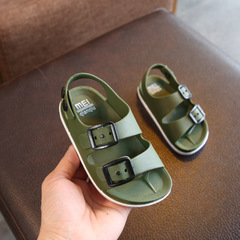 Summer 2019 boys shoes England 1-4 years old baby children's sandals children's non-slip sandals army green 1