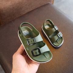 Summer 2019 boys shoes England 1-4 years old baby children's sandals children's non-slip sandals army green 1