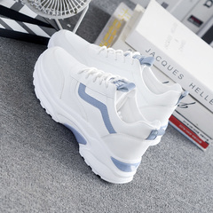 Women Sneakers 2019 Casual Shoes Woman Comfortable Breathable White Flats Female Platform Sneakers blue 4