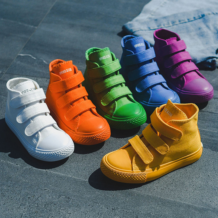 Children Canvas Shoes Girls Sneakers High Top Boys Shoes 2019 Sneakers Kids Casual Shoes Footwear yellow 1