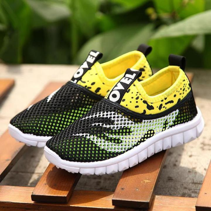 Summer Boys Girls Kids Sneakers For Mesh Breathable Shock sorption Soft Rubber Sole School black 1