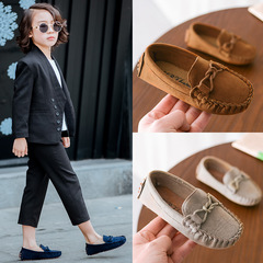 2019 kids Loafers Shoes Sneakers For Children Boys Casual Shoes Toddler Girls Soft Bottom Shoes brown 1