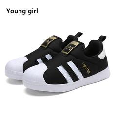 Casual Footwear Children's Flattie Sneakers Small Foot Enfant Star Styles Shell Head Flat A Pedal black 1