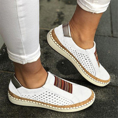 Sneaker Woman Ladies Casual Shoes Lady Loafers Women's Flats Tenis Feminino Zapatos De Mujer 2019 white 35