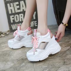 Women Sandals 2019 Summer Casual Shoes Hollow out wedges Gladiator Sandals Women High Heel Sandals pink 5