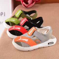 2019 summer kids shoes open toe toddler boys sandals  sport  pu leather baby boys sandals shoes gray 5.5