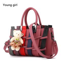 women's handbags Luxury handbag Designer Shoulder bags new bags for women 2019 Style bolsos muje rubber pink one size