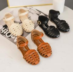 2019 Girls Summer Sandals Baby Girl Toddler Kids Shoes With Sweet Princess Soft Children's brown 5.5