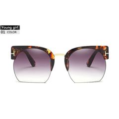 Newest Semi-Rimless Sunglasses Women Brand Designer Clear Lens Sun Glasses For Vintage oculos 1 one