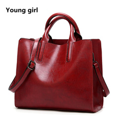 Fashion Bags For Women 2019 Handbags Women Bag Designer Soft Women Female Shoulder Bag wine red 32*11*27