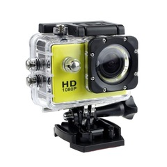 LOONFUNG Sports Action Camera Helmet Cam Camcorder Digital Video Sport Camera HD 1080P Waterproof DV Yellow One size