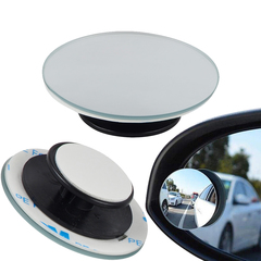 LOONFUNG Car 360 Degree Blind Spot Mirror Wide Angle Mirror Small Round Parking Mirror 2PCS/LOT one color One size