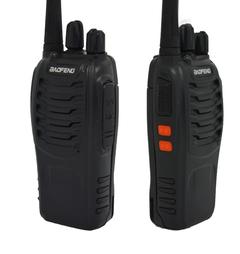 LOONFUNG Walkie Talkie 5W 16CH UHF 400-470MHz 2PCS/SET BLACK