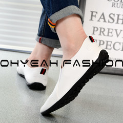 Doudou Men's Shoes British Business Pu Leather Shoes Fashion Men's Leisure Single Shoes white 39 pu