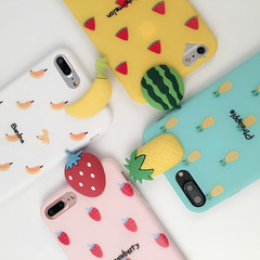 ZP Phone Case For iPhone 7/ 7plus/ iPhone 6/ iPhone 6plus/ iPhone x Fruit Pattern Softy Case yellow For iPhone 6 6s