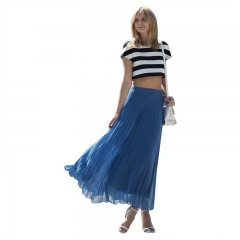 Fashion  Woman Silm Waist  Skirt Blue XL