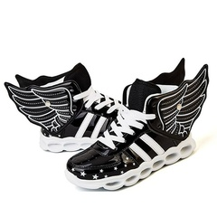 Hot Sale New Children Kids Boys Girls Luminous Sneakers Running Shoes Led Light Up Shoes black 36