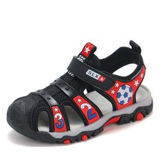 New summer sandal shoes antiskid football standards shoes big size red 26
