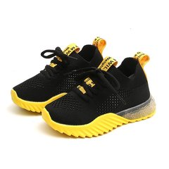 UNICRON Boys antiskid shoes sports girl shoes comfortable breathe freely big size yellow 29