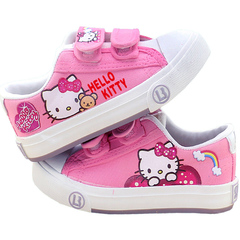 UNICRON Lovely kitten pattern girl shoes casual shoes big size pink 34