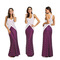 Evening dress Round collar Sleeveless Back Crossing Modeling Oblique stripe Long skirt Dress xl purplish red